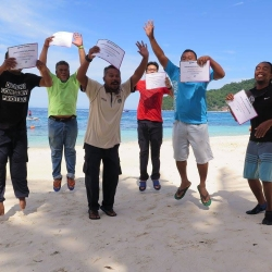 September 2016 - Green Fins Malaysia - Assessor Training with Marine Parks staff in Pulau Perhentian